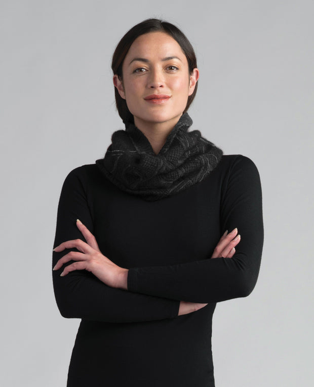 Wanaka Snood-Merinomink-The WoolPress Arrowtown