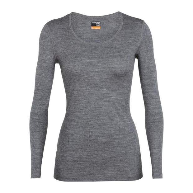 Womens 200 Oasis LS Scoop - Gritstone Heather