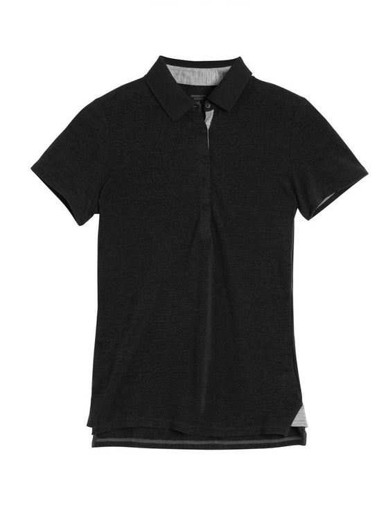 Womens Tech Lite SS Polo - Black/Metro-Icebreaker-The WoolPress Arrowtown