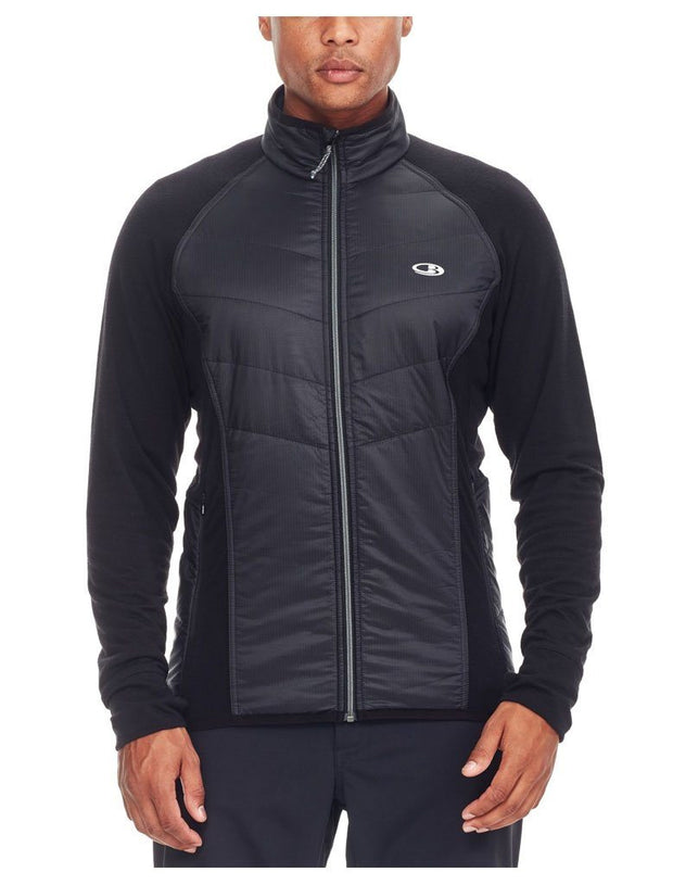 Mens Ellipse LS Zip - Rocket/Midnight Navy-Icebreaker-The WoolPress Arrowtown