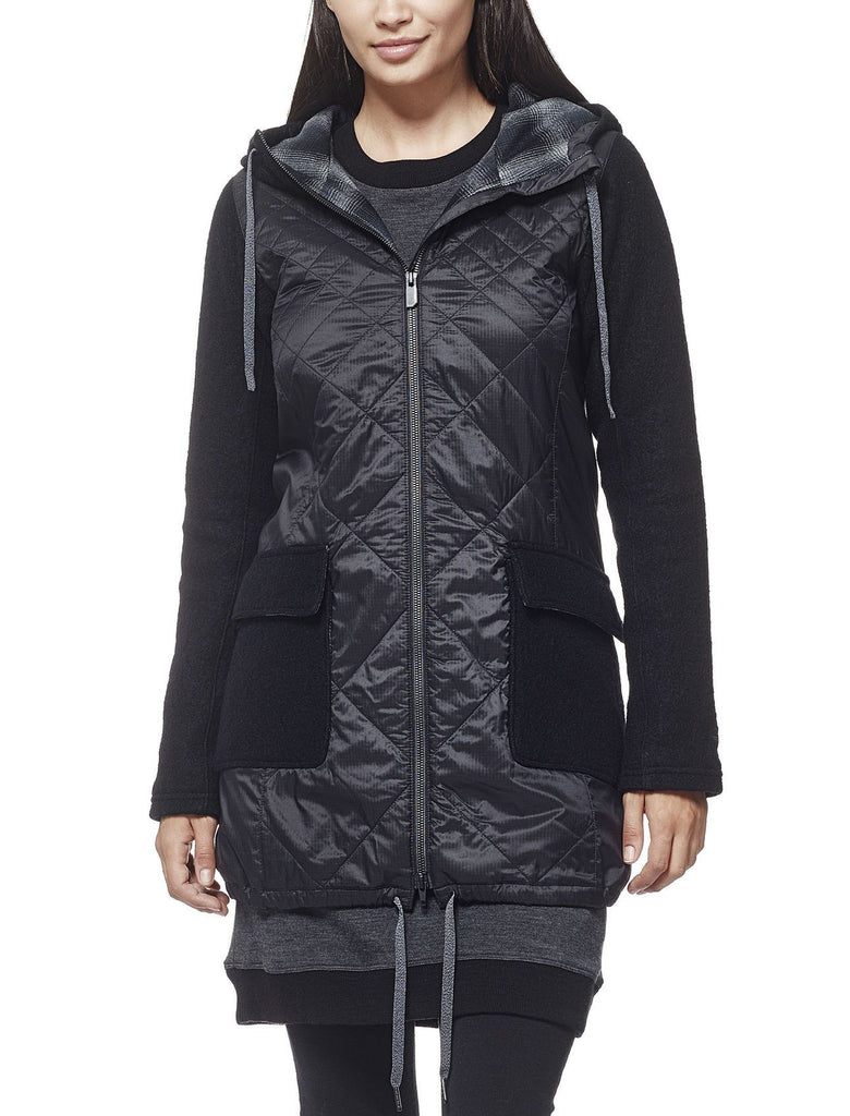 Womens Departure Jacket - Black-Icebreaker-The WoolPress Arrowtown