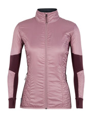 Womens Helix LS Zip - Opal/Velvet-Icebreaker-The WoolPress Arrowtown