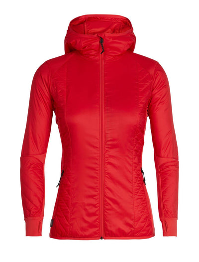 Womens Helix LS Zip Hood-Icebreaker-The WoolPress Arrowtown