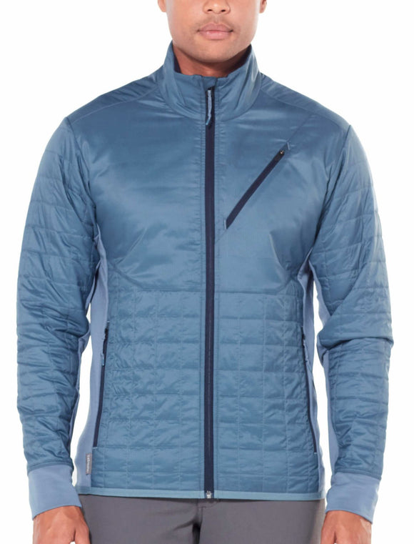 Mens Helix LS Zip - Granite Blue/Midnight Navy-Icebreaker-The WoolPress Arrowtown