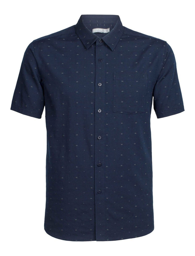Mens Compass SS Shirt - Midnight Navy-Icebreaker-The WoolPress Arrowtown