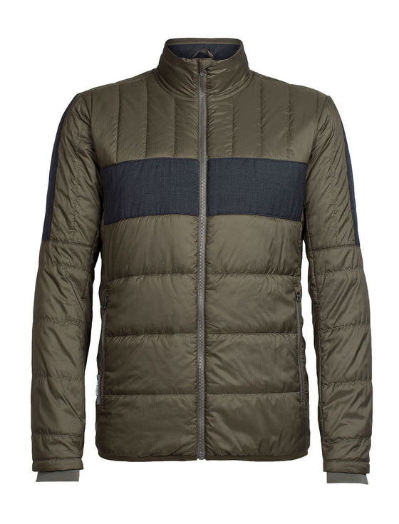 Mens Stratus X Jacket - Kona/Jet Heather-Icebreaker-The WoolPress Arrowtown