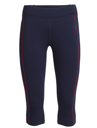 Womens Comet 3Q Tights - Midnight Navy/Oxblood-Icebreaker-The WoolPress Arrowtown