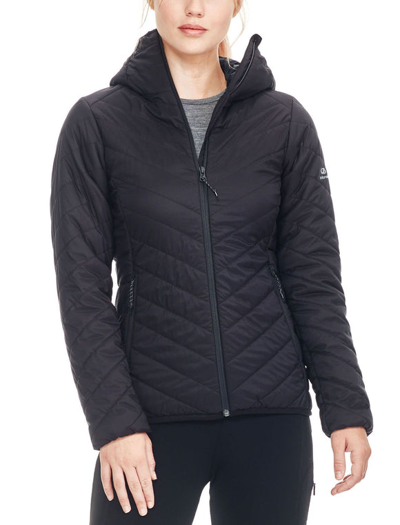 Womens Icebreaker Black MerinoLOFT™ Hyperia Hooded Jacket