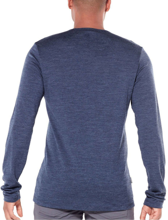 Mens Tech 200 LS Crewe - Imperial Heather-Icebreaker-The WoolPress Arrowtown