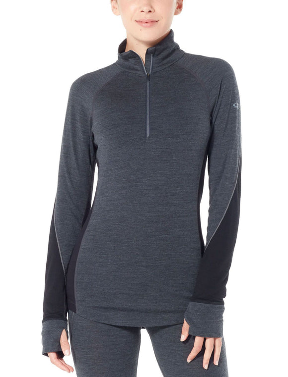 Womens 260 Zone LS Half Zip-Icebreaker-The WoolPress Arrowtown