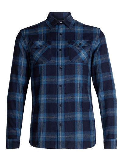Mens Lodge LS Flannel Shirt - Black