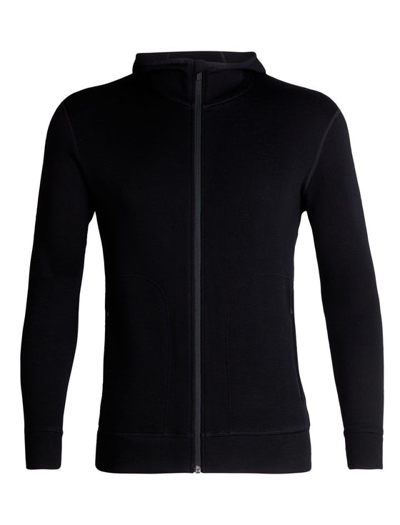 Icebreaker-Mens Elemental LS Zip Hood-shop online at www.thewoolpress.com