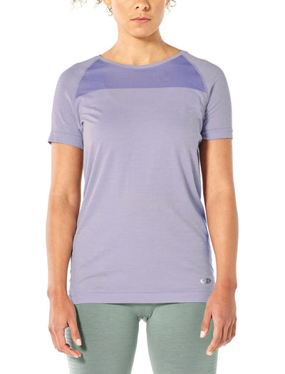 Womens Motion Seamless SS Crewe - Orchid Heather