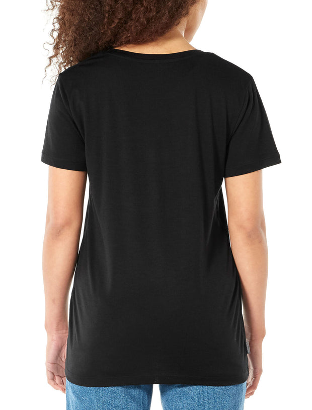 Womens Ravyn SS V Neck - Black