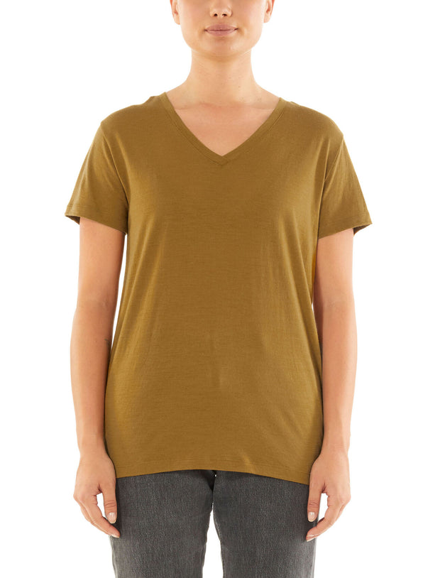 Womens Ravyn SS V Neck - Curry