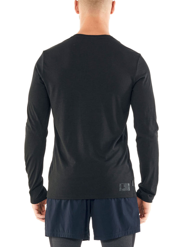 Mens Tech Lite LS Crewe Impact Timeline - Black