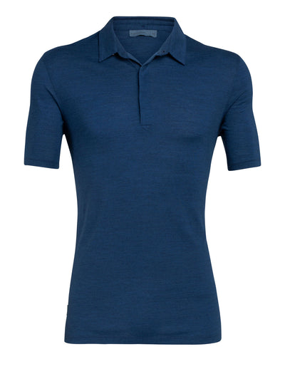 Mens Nature Dye Drayden SS Polo - Icebreaker | thewoolpress.com