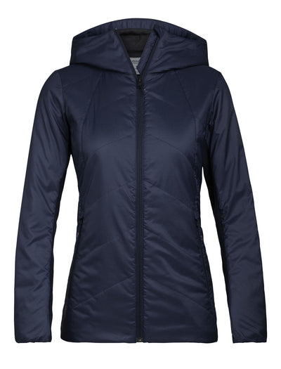 Womens Helix Hooded Jacket - Midnight Navy