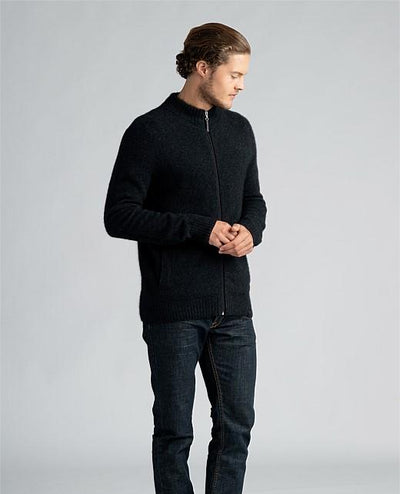 Mens Full Zip Jacket-Merinomink-The WoolPress Arrowtown