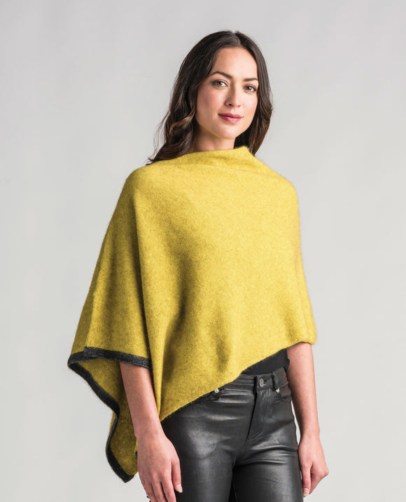 Merinomink-Womens Two Tone Poncho-shop online at www.thewoolpress.com