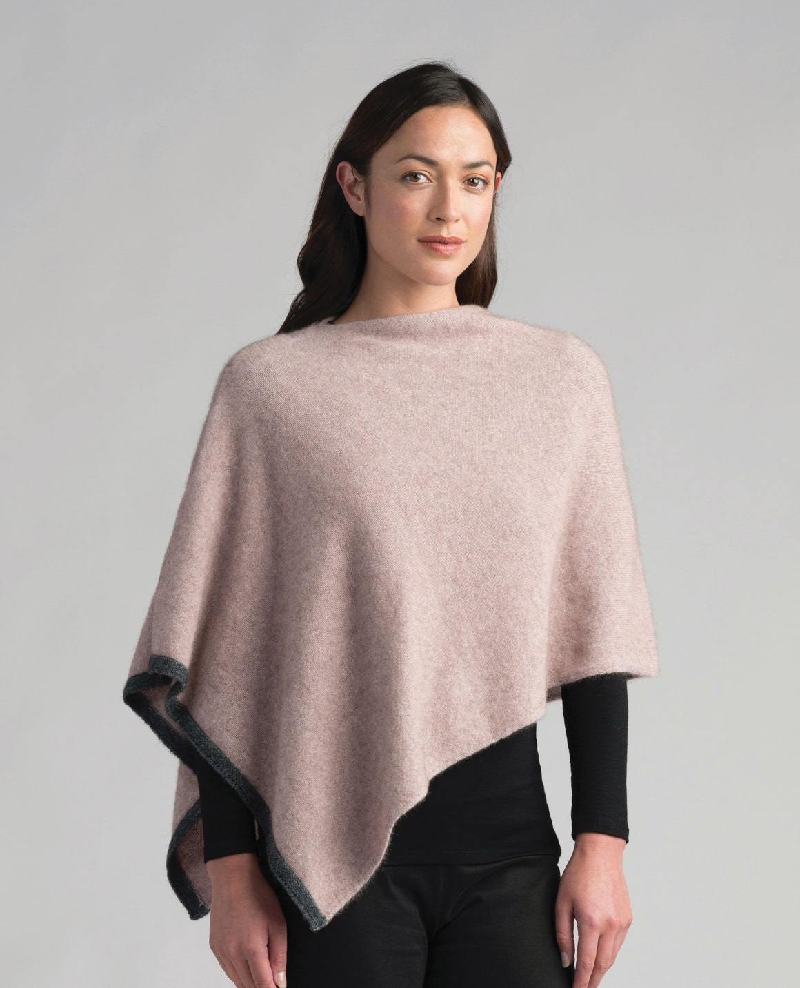 Merinomink Womens Two Tone Poncho Wistful