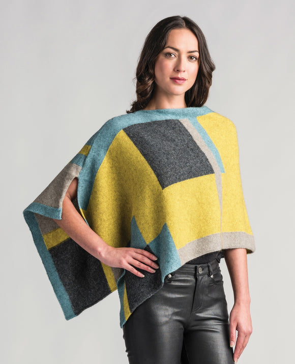 Womens Empress Poncho-Merinomink-The WoolPress Arrowtown