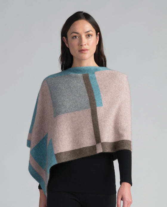 Merinomink-Womens Empress Poncho-shop online at www.thewoolpress.com