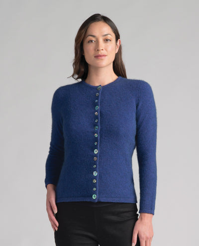 Womens Shell Cardi - Duke-Merinomink-The WoolPress Arrowtown