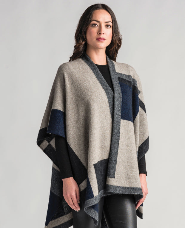 Womens Empress Resort Wrap-Merinomink-The WoolPress Arrowtown