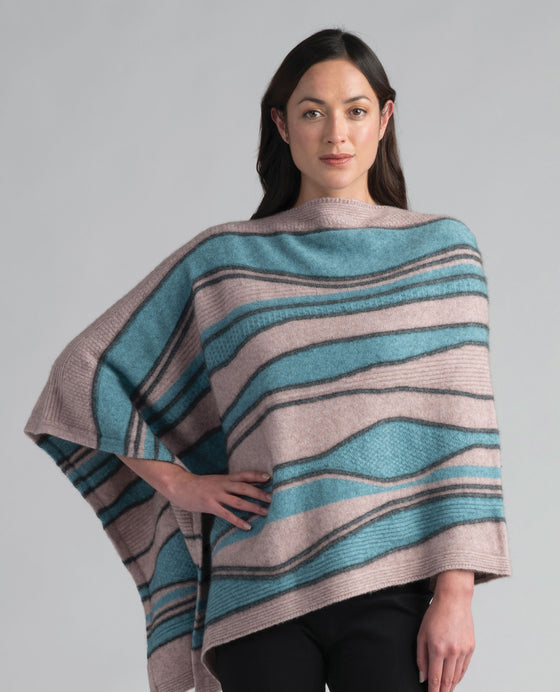 Merinomink-Womens River Poncho-shop online at www.thewoolpress.com