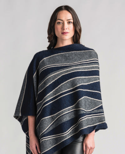 Womens River Poncho-Merinomink-The WoolPress Arrowtown