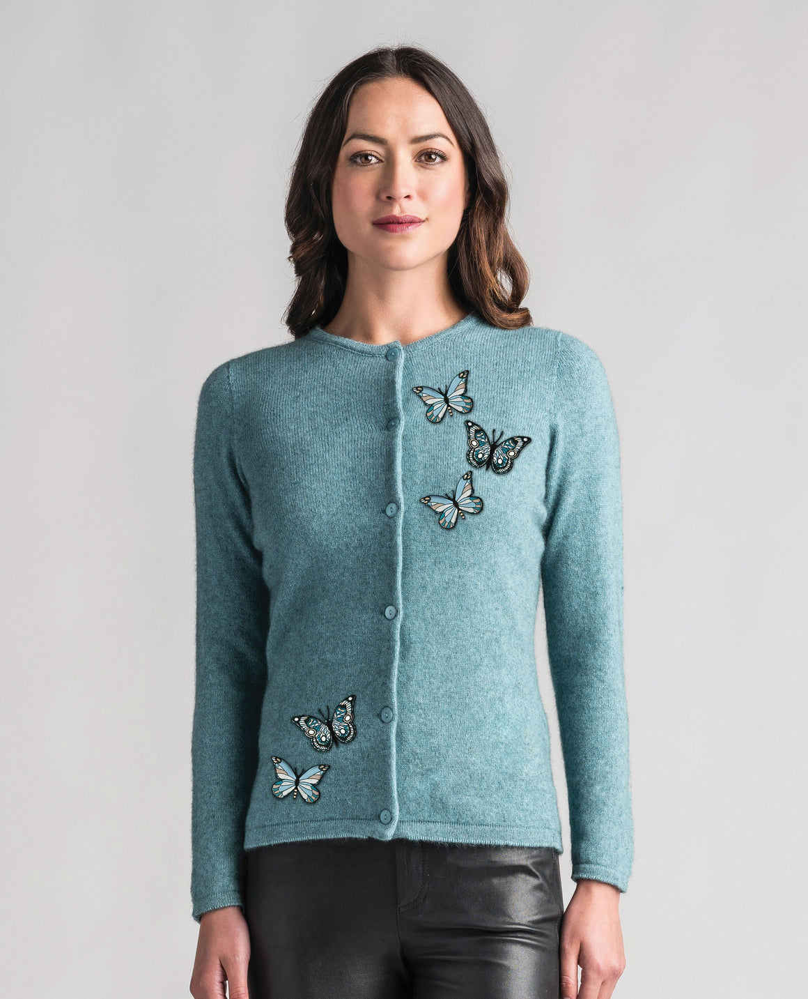 Merinomink-Womens Butterfly Cardi-shop online at www.thewoolpress.com