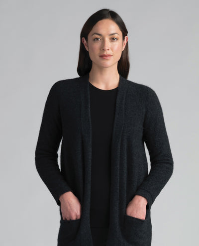 Womens Hokitika Cardigan-Merinomink-The WoolPress Arrowtown