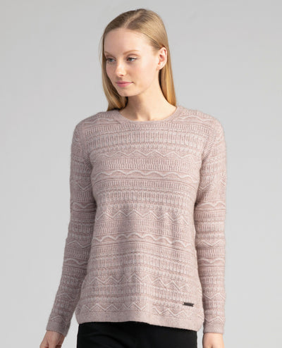 Womens Peak Crop Sweater-Merinomink-The WoolPress Arrowtown