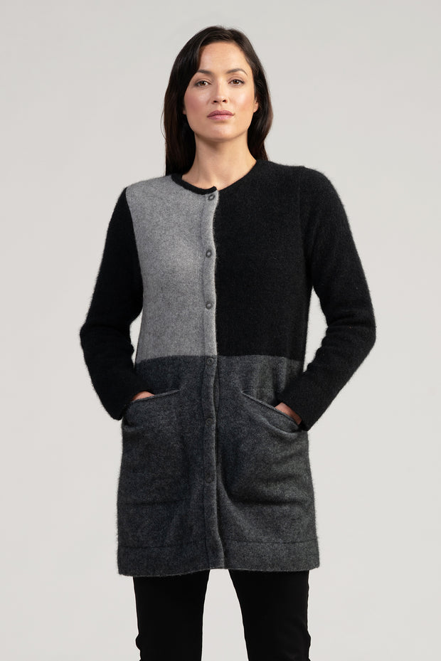 Womens Empress Coat | Shop Merinomink at TheWoolPress in Arrowtown, NZ.