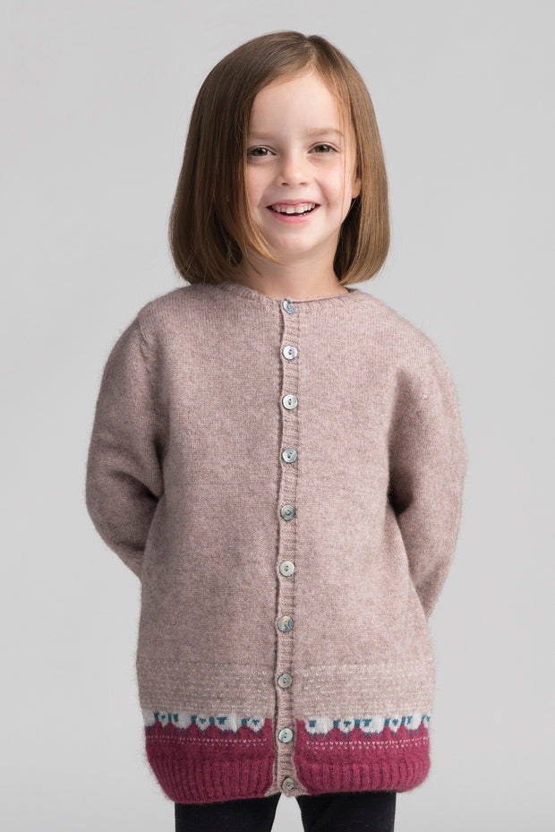 Kids Sheep Cardi | Shop Merinomink at TheWoolPress in Arrowtown, NZ