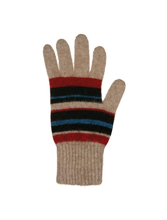 Unisex Possum Merino Stripe Gloves