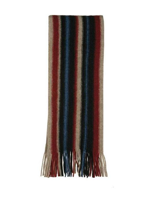 Native World-Mens Possum Merino Striped Scarf-shop online at www.thewoolpress.com
