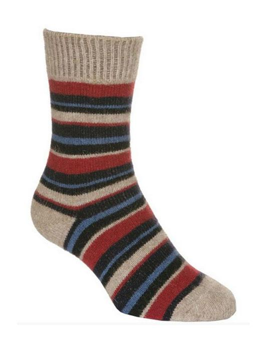 Striped Sock-Native World-The WoolPress Arrowtown