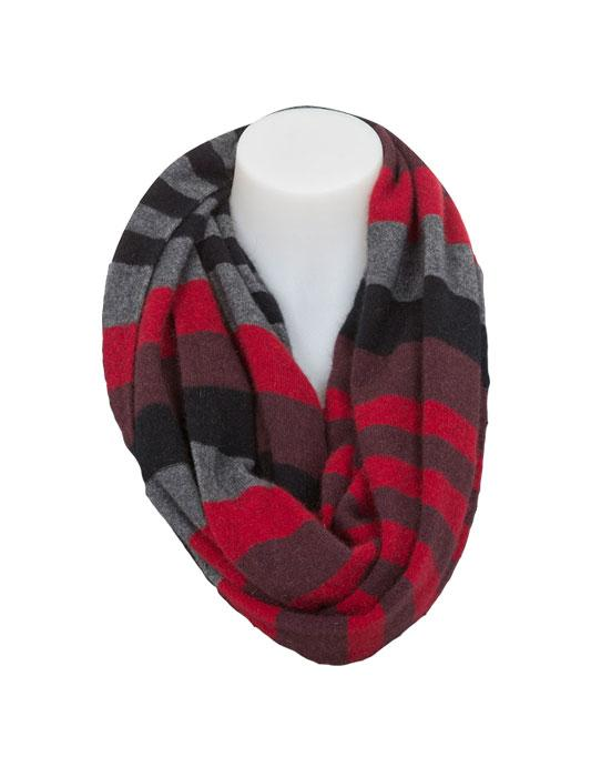 Native World-Womens Possum Merino 4 Tone Block Colour Loop Scarf-shop online at www.thewoolpress.com