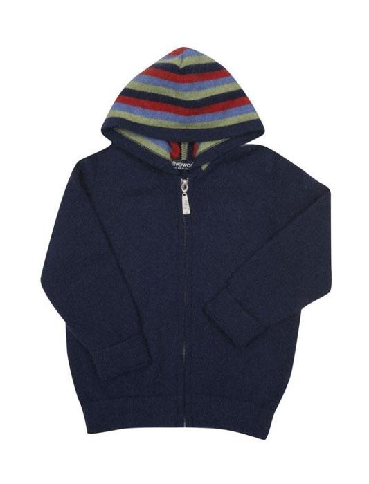 Native World-Kids Possum Merino Striped Zip Hoody-shop online at www.thewoolpress.com