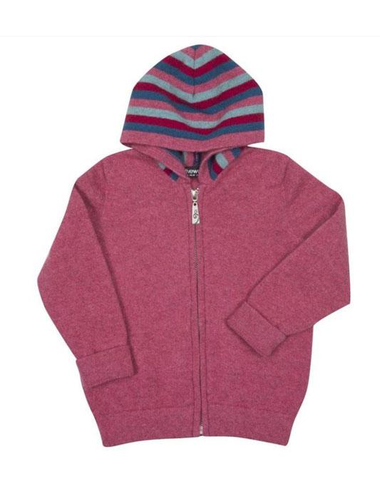 Kids Possum Merino Striped Zip Hoody