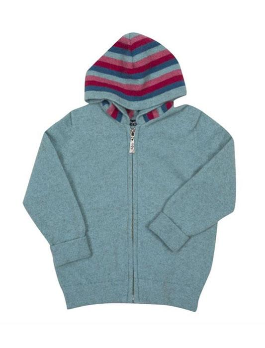Kids Striped Zip Hoody-Native World-The WoolPress Arrowtown