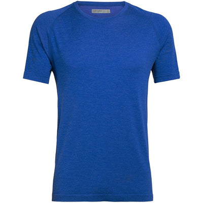 Mens Motion Seamless SS Crewe - Lapis Heather