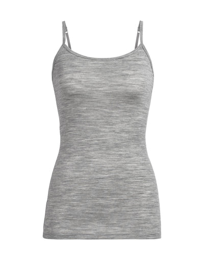 Womens Siren Cami Metro Heather-Icebreaker | thewoolpress.com