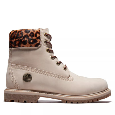 Womens 6-Inch Premium Waterproof Boot - Beige/Cheetah