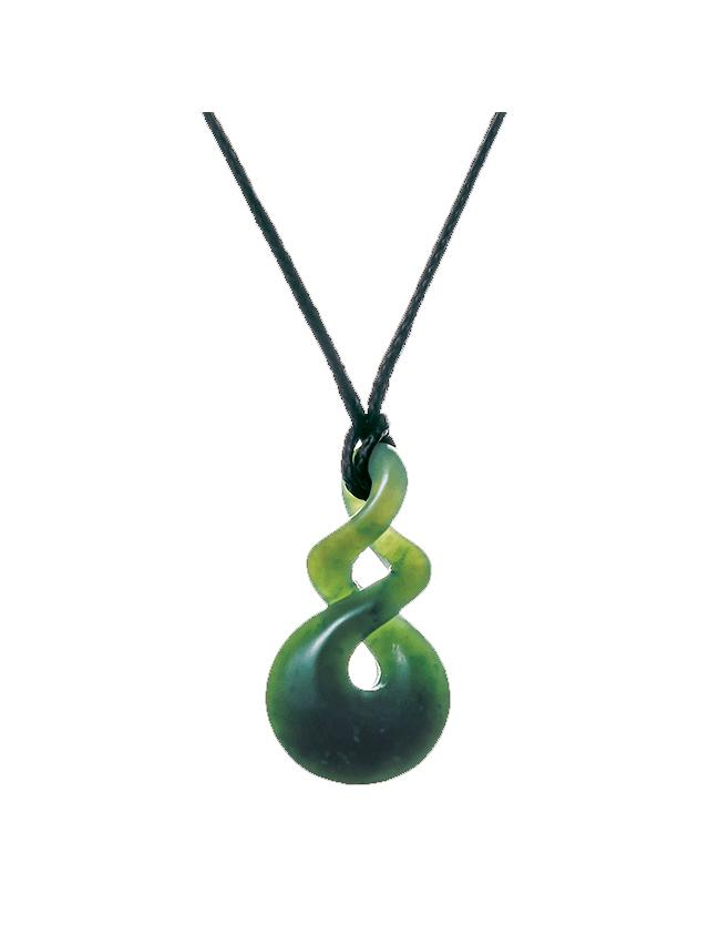 Moreton Jewellery-All Blacks Pounamu Pikorua Double Twist-shop online at www.thewoolpress.com