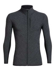 Mens Descender LS Zip - Jet Heather/Black