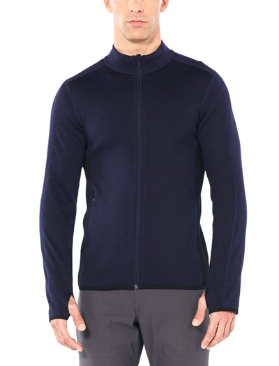 Mens Elemental LS Zip | shop Icebreaker at TheWoolPress in Arrowtown, NZ