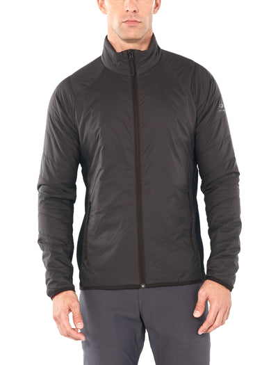 Mens Hyperia Lite Hybrid Jacket - Charred/Black | shop Icebreaker at TheWoolPress in Arrowtown, NZ